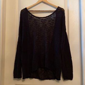 Garage black open back relaxed sweater